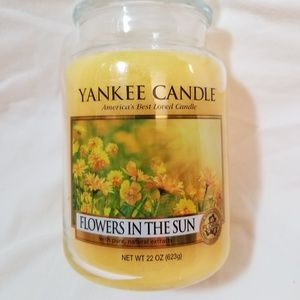 Yankee Candle Large FLOWERS IN THE SUN 22oz YellowNWT for sale